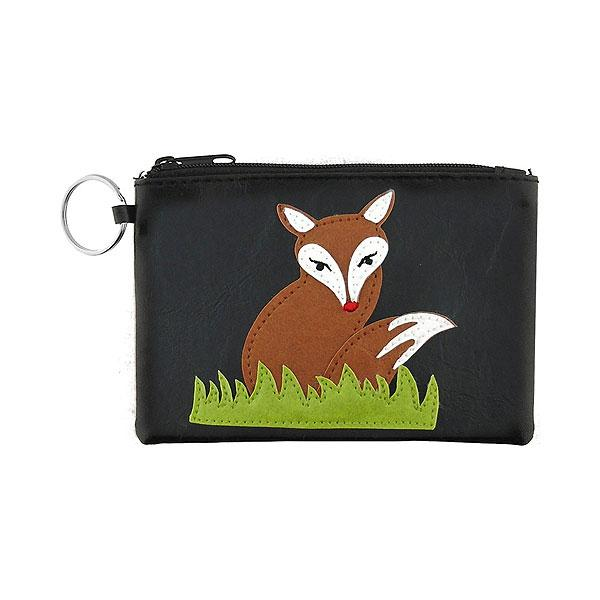 Online shopping for vegan brand LAVISHY's playful applique vegan key ring coin purse with adorable bird & birdhouse applique. Great for everyday use, fun gift for family & friends. Wholesale at www.lavishy.com for gift shop, clothing & fashion accessories boutique, book store in Canada, USA & worldwide since 2001.