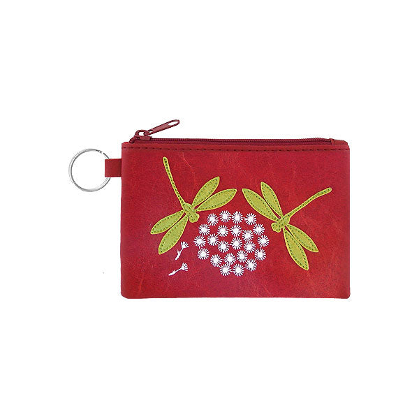 Shop vegan brand LAVISHY's dragonfly & flower applique vegan/faux leather cardholder. Wholesale available at http://www.lavishy.com/lookbook/lavishy-adora-collection-look-book.htm