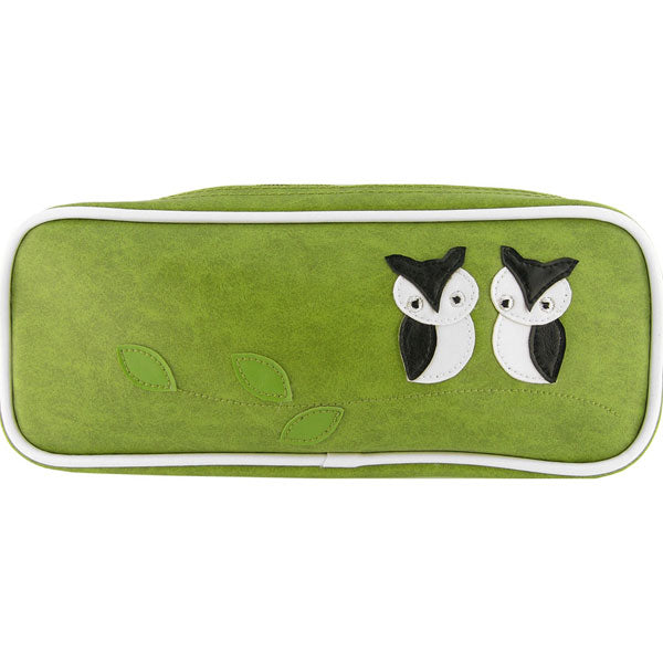 Shop vegan brand LAVISHY's owl mama & baby applique vegan/faux leather makeup pouch/pencil case. Wholesale available at http://www.lavishy.com/lookbook/lavishy-adora-collection-look-book.htm