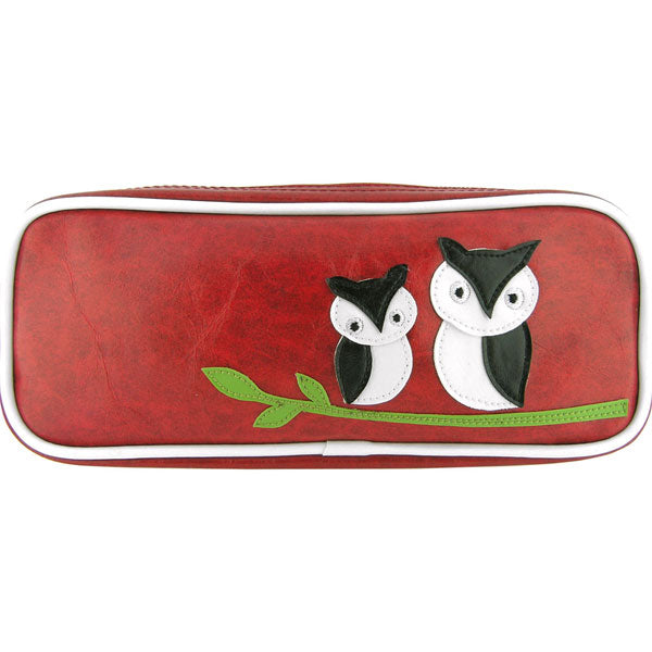 Shop PETA approved vegan brand LAVISHY's owl mama & baby applique vegan/faux leather makeup pouch/pencil case. Wholesale available at http://www.lavishy.com/lookbook/lavishy-adora-collection-look-book.htm