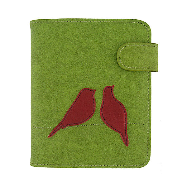 Shop PETA approved vegan brand LAVISHY's love birds applique vegan/faux leather passport/travel wallet. Wholesale available at http://www.lavishy.com/lookbook/lavishy-adora-collection-look-book.htm