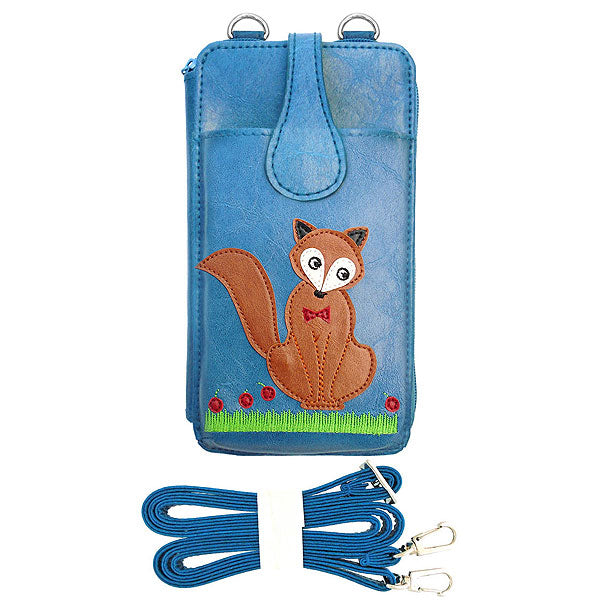 Shop PETA approved vegan brand LAVISHY's fox applique vegan/faux leather cell phone wallet/bag. Wholesale available at http://www.lavishy.com/lookbook/lavishy-adora-collection-look-book.htm