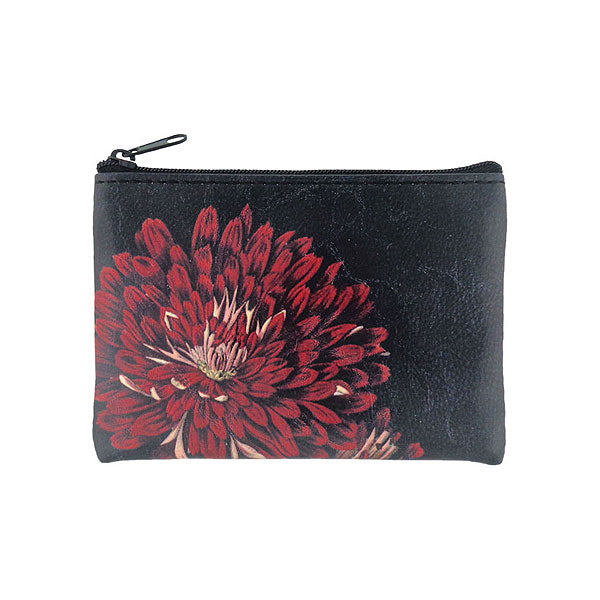 Shop vegan brand LAVISHY's vegan/faux leather vintage style chrysanthemum flower print vegan coin purse. It's a great gift idea for you or your friends & family. Wholesale available at www.lavishy.com with many unique & fun fashion accessories.