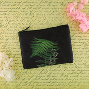 Online shopping for vegan brand LAVISHY's charming vintage style fern print vegan coin purse. Great for everyday use, fun gift for family & friends. Wholesale at www.lavishy.com for gift shop, clothing & fashion accessories boutique, book store in Canada, USA & worldwide since 2001.