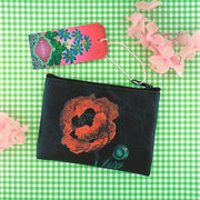 Online shopping for vegan brand LAVISHY's charming vintage style poppy flower print vegan coin purse. Great for everyday use, fun gift for family & friends. Wholesale at www.lavishy.com for gift shop, clothing & fashion accessories boutique, book store in Canada, USA & worldwide since 2001.