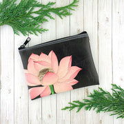 Online shopping for vegan brand LAVISHY's charming vintage style lotus flower print vegan coin purse. Great for everyday use, fun gift for family & friends. Wholesale at www.lavishy.com for gift shop, clothing & fashion accessories boutique, book store in Canada, USA & worldwide since 2001.