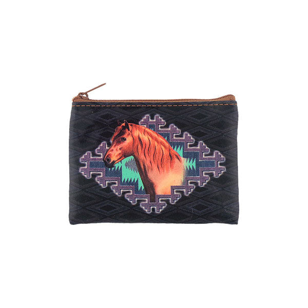 Shop PETA approved vegan brand LAVISHY's vegan/faux leather vintage style horse print vegan coin purse. It's a great gift idea for you or your friends & family. Wholesale available at www.lavishy.com with many unique & fun fashion accessories.
