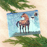 Online shopping for vegan brand LAVISHY's vintage style horse print vegan coin purse. Great for everyday use, fun gift for animal loving family & friends. Wholesale at www.lavishy.com for gift shops, clothing & fashion accessories boutiques, book stores in Canada, USA & worldwide since 2001.