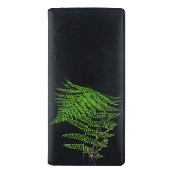 Online shopping for vegan brand LAVISHY's vegan/faux leather vintage style fern leaf print vegan large wallet. It's a great gift idea for you or your friends & family. Wholesale available at www.lavishy.com with many unique & fun fashion accessories.