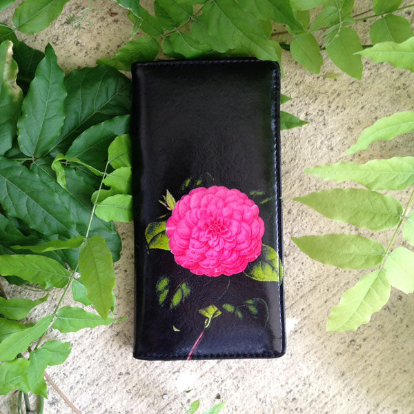 Shop PETA approved vegan brand LAVISHY's vegan/faux leather vintage style camellia flower print vegan large wallet. It's a great gift idea for you or your friends & family. Wholesale available at www.lavishy.com with many unique & fun fashion accessories.