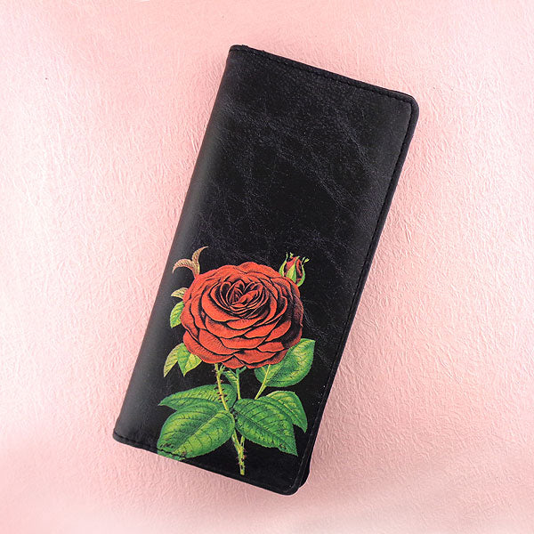 6-124: Rose vegan large wallet