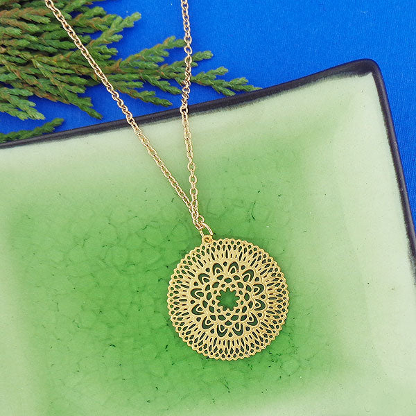 Shop LAVISHY 12k gold plated filigree necklaces. For gift shop, boutique and corporate volume buyer to place wholesale order, please visit http://www.lavishy.com/wholesale/lavishy-wholesale-silver-and-gold-plated-filigree-earrings-and-necklaces.htm