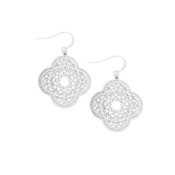 Shop LAVISHY sterling silver plated filigree earrings. For gift shop, boutique and corporate volume buyer to place wholesale order, please visit http://www.lavishy.com/wholesale/lavishy-wholesale-silver-and-gold-plated-filigree-earrings-and-necklaces.htm