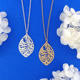 Online shopping for vegan brand LAVISHY's unique, beautiful & affordable 925 sterling silver or 12k gold plated filigree pendant necklace. A great gift for you or your girlfriend, wife, co-worker, friend & family. Wholesale available at www.lavishy.com with many unique & fun fashion accessories.