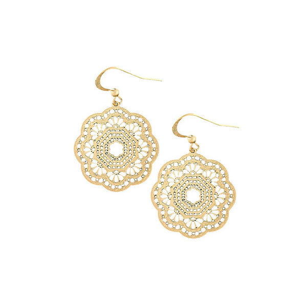 Shop LAVISHY 12k gold plated filigree earrings. For gift shop, boutique and corporate volume buyer to place wholesale order, please visit http://www.lavishy.com/wholesale/lavishy-wholesale-silver-and-gold-plated-filigree-earrings-and-necklaces.htm