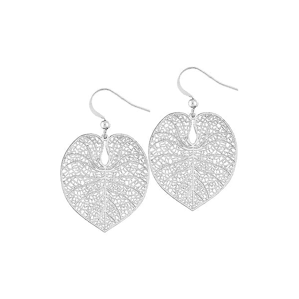 66-021: Silver/gold plated filigree earrings