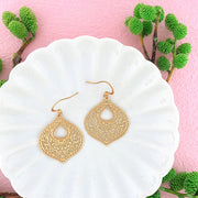 Online shopping for vegan brand LAVISHY's unique, beautiful & affordable 925 sterling silver or 12k gold plated Moroccan pattern filigree earrings. A great gift for you or your girlfriend, wife, co-worker, friend & family. Wholesale available at www.lavishy.com with many unique & fun fashion accessories.