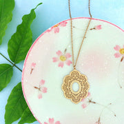 Shop vegan brand LAVISHY's unique, beautiful & affordable 925 sterling silver or 12k gold plated filigree pendant necklace. A great gift for you or your girlfriend, wife, co-worker, friend & family. Wholesale available at www.lavishy.com with many unique & fun fashion accessories.
