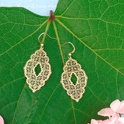 66-028: Silver/gold plated filigree earrings