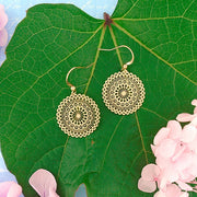 66-032: Silver/gold plated filigree earrings