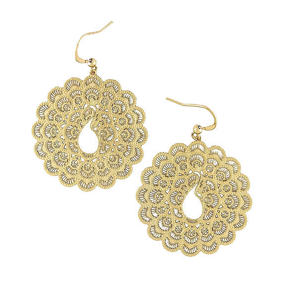 Online shopping for vegan brand LAVISHY's unique, beautiful & affordable 925 sterling silver or 12k gold plated filigree peacock earrings. A great gift for you or your girlfriend, wife, co-worker, friend & family. Wholesale available at www.lavishy.com with many unique & fun fashion accessories.