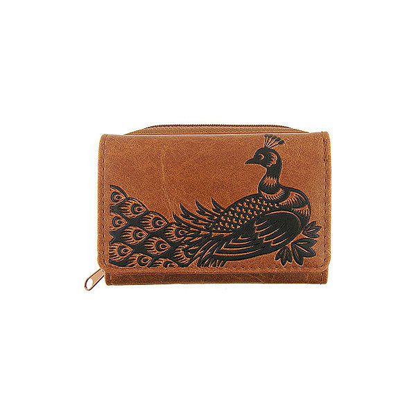 Shop LAVISHY embossed Peacock vegan/faux leather small/trifold wallet. This product is also available for wholesale at www.lavishy.com with other unique & fun vegan bags, wallets, coin purses, travel accessories, fashion jewelry & gifts designed by PETA approved vegan brand LAVISHY.