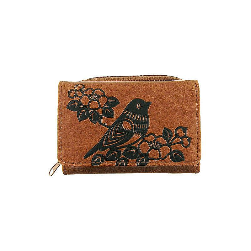 Online shopping for vegan brand LAVISHY's Eco-friendly cruelty free embossed bird & flower vegan small/trifold wallet for women. Great for everyday use, a cool gift for family & friends. Wholesale at www.lavishy.com for gift shops, fashion accessories and clothing boutiques, book stores cross Canada since 2001.