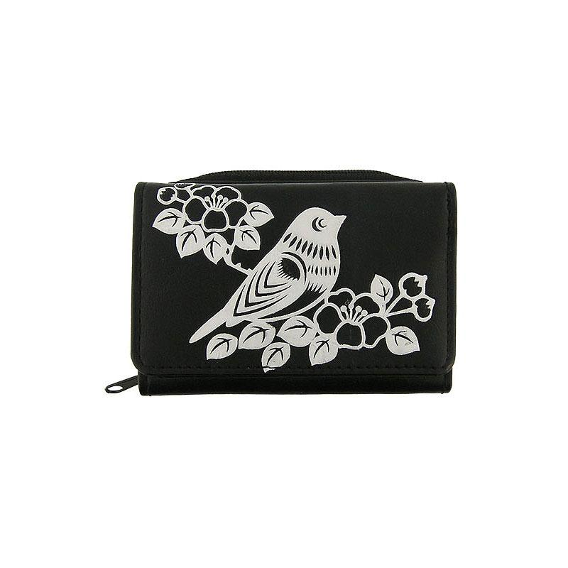 Shop LAVISHY embossed bird & flower vegan/faux leather small/trifold wallet. This product is also available for wholesale at www.lavishy.com with other unique & fun vegan bags, wallets, coin purses, travel accessories, fashion jewelry & gifts designed by PETA approved vegan brand LAVISHY.