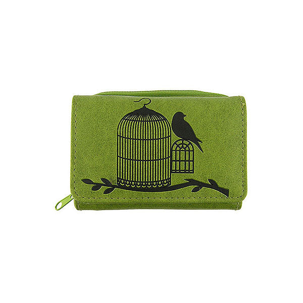 Shop LAVISHY embossed bird free from cage vegan/faux leather small/trifold wallet. This product is also available for wholesale at www.lavishy.com with other unique & fun vegan bags, wallets, coin purses, travel accessories, fashion jewelry & gifts designed by PETA approved vegan brand LAVISHY.