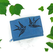 Online shopping for vegan brand LAVISHY's Eco-friendly cruelty free embossed love birds vegan small/trifold wallet for women. Great for everyday use, gift for family & friends. Wholesale at www.lavishy.com for gift shops, fashion accessories & clothing boutiques, book stores in Canada, USA & worldwide.