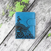 Shop LAVISHY embossed peacock vegan medium wallet for women