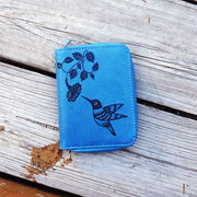 Shop LAVISHY embossed hummingbird vegan medium wallet for women