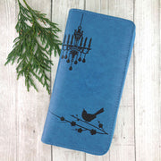 Online shopping for vegan brand LAVISHY's Eco-friendly embossed bird, flower & chandelier vegan large wallet for women. It's great for everyday use & a gift for family & friends. Wholesale at www.lavishy.com for gift shops, fashion accessories and clothing boutiques, book stores in Canada, USA & worldwide since 2001.