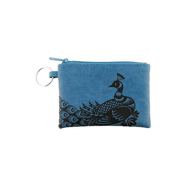 Shop vegan brand LAVISHY's peacock embossed vegan/faux leather key ring coin purse. Wholesale available at http://www.lavishy.com/lookbook/lavishy-adora-collection-look-book.htm