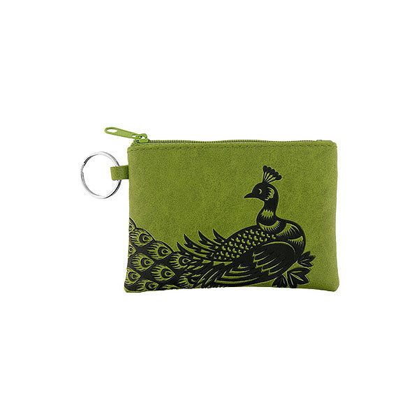Shop PETA approved vegan brand LAVISHY's peacock embossed vegan/faux leather key ring coin purse. Wholesale available at http://www.lavishy.com/lookbook/lavishy-adora-collection-look-book.htm
