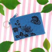 Online shopping for vegan brand LAVISHY's charming embossed chrysanthemum & butterfly vegan key ring coin purse. Great for everyday use, fun gift for family & friends. Wholesale at www.lavishy.com for gift shop, clothing & fashion accessories boutique, book store in Canada, USA & worldwide since 2001.