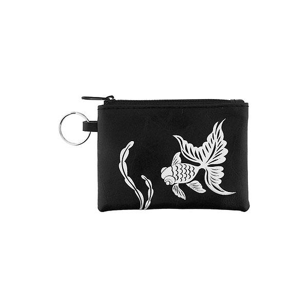 Online shopping for vegan brand LAVISHY's charming embossed goldfish vegan key ring coin purse. Great for everyday use, fun gift for family & friends. Wholesale at www.lavishy.com for gift shop, clothing & fashion accessories boutique, book store in Canada, USA & worldwide since 2001.