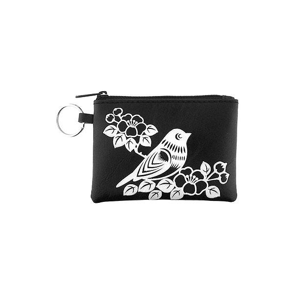 Online shopping for vegan brand LAVISHY's charming embossed bird & flower vegan key ring coin purse. Great for everyday use, fun gift for family & friends. Wholesale at www.lavishy.com for gift shop, clothing & fashion accessories boutique, book store in Canada, USA & worldwide since 2001.