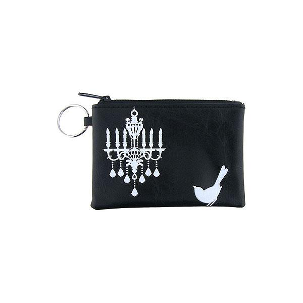 Online shopping for vegan brand LAVISHY's charming embossed bird & chandelier vegan key ring coin purse. Great for everyday use, fun gift for family & friends. Wholesale at www.lavishy.com for gift shop, clothing & fashion accessories boutique, book store in Canada, USA & worldwide since 2001.