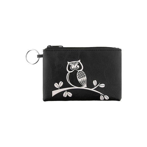 Shop LAVISHY embossed vegan key ring coin purse-owl. This product is available for wholesale at www.lavishy.com where you can order PETA approved vegan brand LAVISHY's fun & unique vegan leather bags, wallets, coin purses, travel accessories, fashion jewelry & gifts.