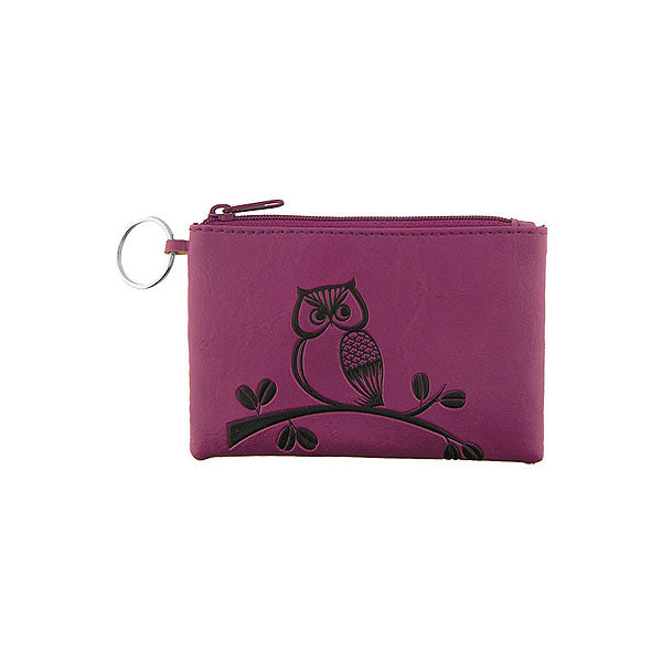 Online shopping for vegan brand LAVISHY's charming embossed owl vegan key ring coin purse. Great for everyday use, fun gift for family & friends. Wholesale at www.lavishy.com for gift shop, clothing & fashion accessories boutique, book store in Canada, USA & worldwide since 2001.