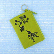 Online shopping for vegan brand LAVISHY's charming embossed hummingbird vegan key ring coin purse. Great for everyday use, fun gift for family & friends. Wholesale at www.lavishy.com for gift shop, clothing & fashion accessories boutique, book store in Canada, USA & worldwide since 2001.