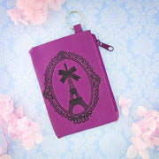 Online shopping for vegan brand LAVISHY's charming embossed Paris Eiffel Tower vegan key ring coin purse. Great for everyday use, fun gift for family & friends. Wholesale at www.lavishy.com for gift shop, clothing & fashion accessories boutique, book store in Canada, USA & worldwide since 2001.