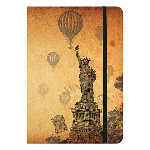 Online shopping for LAVISHY Eco-friendly vintage style New York Statue of Liberty journal from Sarah collection by PETA approved vegan brand LAVISHY. A great gift for you or your co-workers, friends and family. Wholesale available at www.lavishy.com to social stationary stores, gift shops and boutiques worldwide.