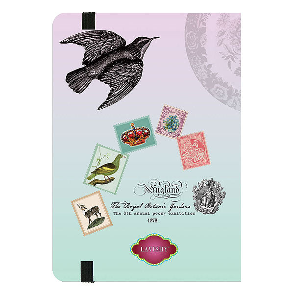 709-0332: Peony and butterfly journal