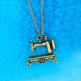 Shop LAVISHY's unique, playful & affordable vintage look retro style sewing machine necklace. It's fun to wear everyday also make great gift for your family & friends. Wholesale at www.lavishy.com with many unique & fun fashion accessories to gift shop, clothing & fashion accessories boutique, book store since 2001.