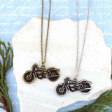 Shop LAVISHY's unique, playful & affordable vintage look retro style motorcycle necklace. It's fun to wear everyday also make great gift for your family & friends. Wholesale at www.lavishy.com with many unique & fun fashion accessories to gift shop, clothing & fashion accessories boutique, book store since 2001.