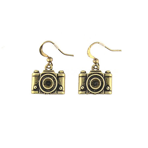 Shop LAVISHY's unique, beautiful & affordable retro style camera earrings. A great gift for you or your girlfriend, wife, co-worker, friend & family. Wholesale available at www.lavishy.com with many unique & fun fashion accessories.