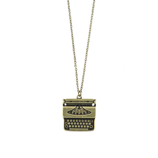 Shop LAVISHY's unique, beautiful & affordable retro style typewriter necklace. A great gift for you or your girlfriend, wife, co-worker, friend & family. Wholesale available at www.lavishy.com with many unique & fun fashion accessories.