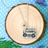 Shop LAVISHY's unique, beautiful & affordable retro style boombox necklace. A great gift for you or your girlfriend, wife, co-worker, friend & family. Wholesale available at www.lavishy.com with many unique & fun fashion accessories.